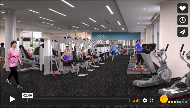 Video screenshot of the Peggy & Philip B. Crosby Wellness Center